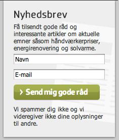 Eksempel fra Compara.dk